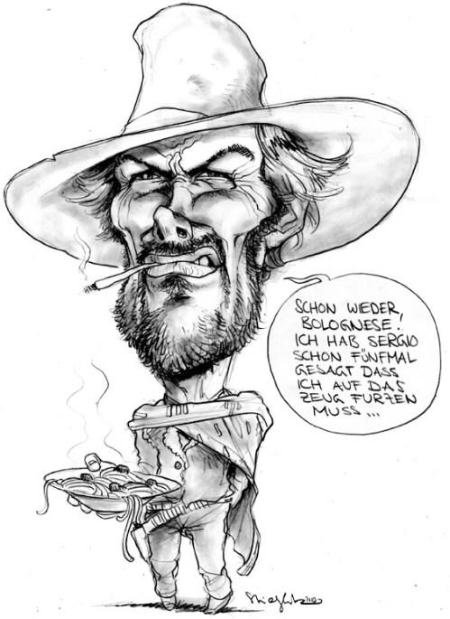 Clint Eastwood Karikatur