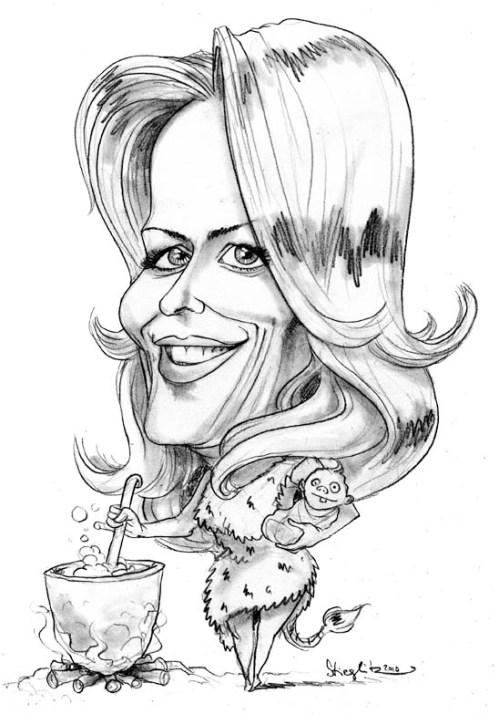 Eva Herman Karikatur