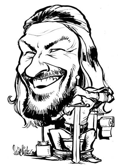Sean Bean Ed Eddard Stark Game of Thrones Karikatur Caricature