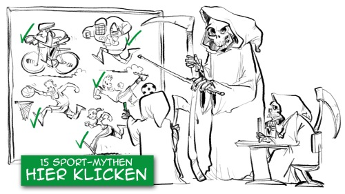 Pro7 Galileo 15 Sportmythen illustriert von Schnellzeichner Daniel Stieglitz