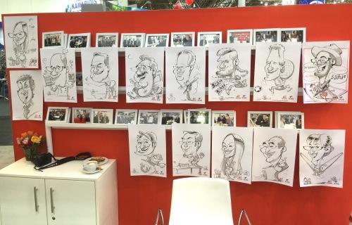 Messezeichner iPad Zeichner Schnellzeichner Karikaturist  Daniel Stieglitz