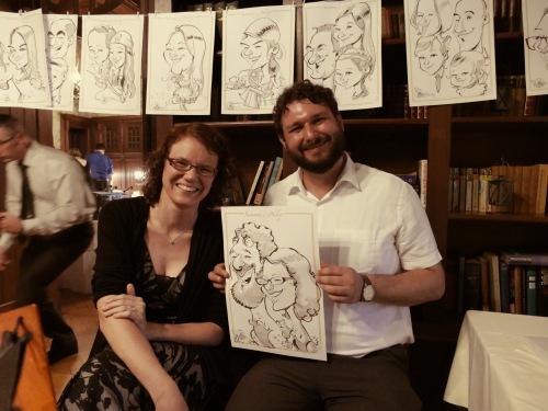 Hochzeitszeichner Schnellzeichner Karikaturist Hochzeit Daniel Stieglitz