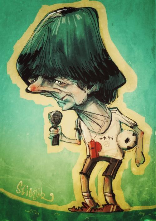 joachim jogi löw loew Karikatur Caricature Caricatura