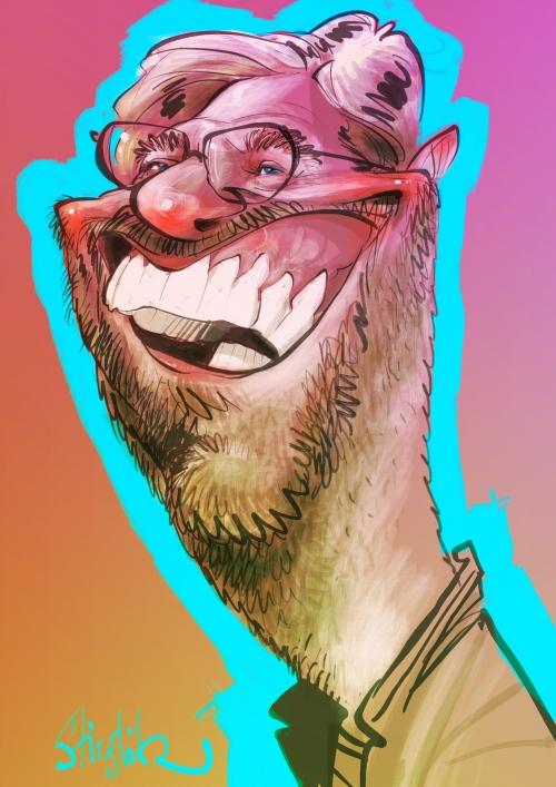 Jürgen Norbert Klopp Kloppo Karikatur Caricature Caricatura Schnellzeichner Karikaturist Daniel Stieglitz iPad zeichner