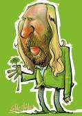 Anton Toni Hofreiter die Grünen Karikatur Schnellzeichner Berlin Daniel Stieglitz