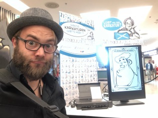 Karikaturist Schnellzeichner Berlin iPad zeichner Daniel Stieglitz