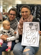 Schnellzeichner Karikaturist Dresden Sachsen Daniel Stieglitz Event Zeichner