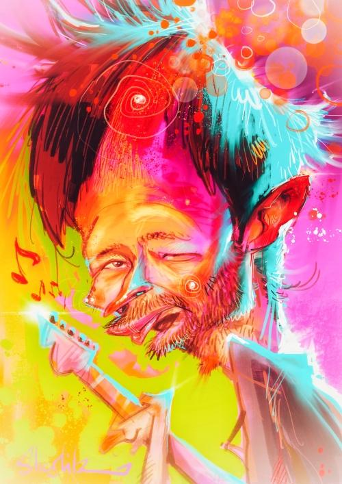 Thom Yorke Radiohead Karikatur caricature Caricatura Schnellzeichner Daniel Stieglitz