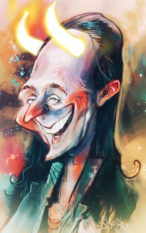 Tom loki Hilldeston Karikatur Caricature Caricatura Schnellzeichner Daniel Stieglitz