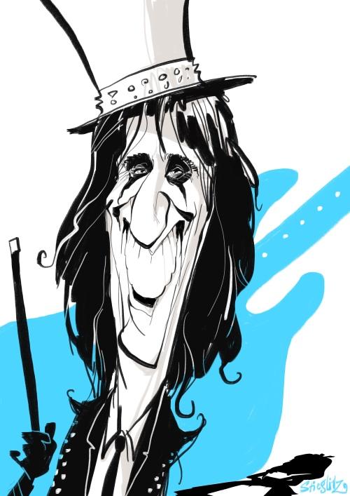 Alice cooper Karikatur Caricatura Caricature Daniel Stieglitz