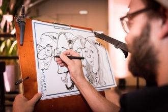 Berlin Saarland Schnellzeichner MEssezeichner live event Karikaturist Daniel Stieglitz 00024