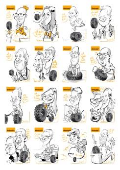hannover continental schnellzeichner messezeichner karikaturist live event zeichner iPad Daniel Stieglitz