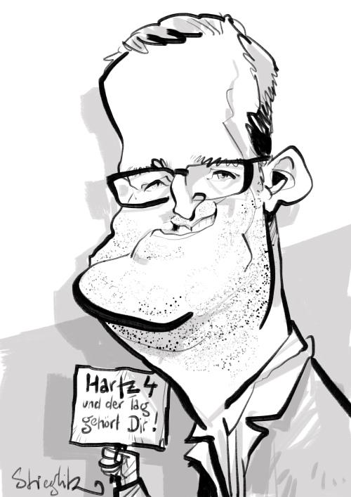 jens spahn Karikatur Schnellzeichner Daniel stieglitz