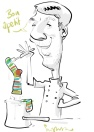 leipzig SAMSUNG schnellzeichner messezeichner karikaturist live zeichner digitaler zeichner handyzeichner note Daniel Stieglitz