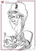 mannheim schnellzeichner messezeichner karikaturist live event zeichner Daniel Stieglitz iPAd