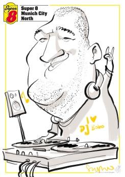 münchen super8 eröffnung schnellzeichner karikaturist messezeichner daniel stieglitz