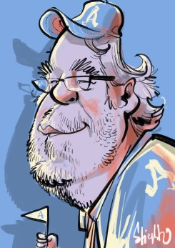Philip Seymour Hoffman Karikatur Caricature Caricatura Daniel Stieglitz