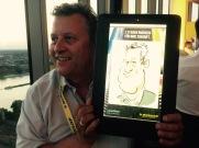 Roadshow Goodyear Köln Leipzig Berlin iPad Schnellzeichner MEssezeichner live event Karikaturist Daniel Stieglitz 00008