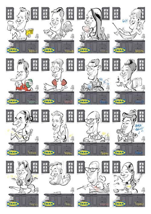 schnellzeichner messezeichner karikaturist live zeichner DORTMUND IKEA ipad event Daniel Stieglitz