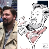 schnellzeichner messezeichner karikaturist live zeichner Hamburg Daniel Stieglitz iPad