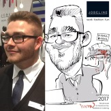 schnellzeichner messezeichner karikaturist live zeichner Hamburg INTERORGA00003