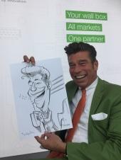 schnellzeichner messezeichner karikaturist live zeichner KEBA iaa Messe Frankfurt 00014