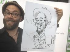 schnellzeichner messezeichner karikaturist live zeichner KEBA iaa Messe Frankfurt 00039