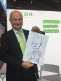 schnellzeichner messezeichner karikaturist live zeichner KEBA iaa Messe Frankfurt 00042