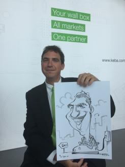 schnellzeichner messezeichner karikaturist live zeichner KEBA iaa Messe Frankfurt 00050