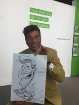 schnellzeichner messezeichner karikaturist live zeichner KEBA iaa Messe Frankfurt 00058