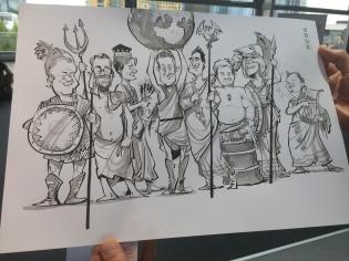 schnellzeichner messezeichner karikaturist live zeichner KEBA iaa Messe Frankfurt 00079
