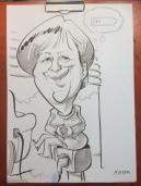 schnellzeichner messezeichner karikaturist live zeichner KEBA iaa Messe Frankfurt 00080