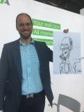 schnellzeichner messezeichner karikaturist live zeichner KEBA iaa Messe Frankfurt 00107