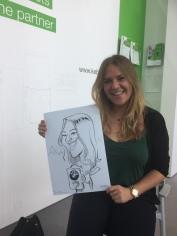 schnellzeichner messezeichner karikaturist live zeichner KEBA iaa Messe Frankfurt 00109