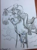schnellzeichner messezeichner karikaturist live zeichner KEBA iaa Messe Frankfurt 00145