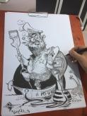 schnellzeichner messezeichner karikaturist live zeichner KEBA iaa Messe Frankfurt 00148