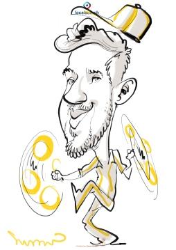 Zürich Schweiz iPad Schnellzeichner MEssezeichner live event Karikaturist Daniel Stieglitz 00045