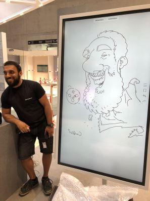 berlin IFA 2018 SAMSUNG schnellzeichner karikaturist ipad zeichne event daniel stieglitz00001