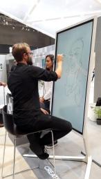 berlin IFA 2018 SAMSUNG schnellzeichner karikaturist ipad zeichne event daniel stieglitz00006