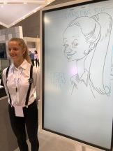 berlin IFA 2018 SAMSUNG schnellzeichner karikaturist ipad zeichne event daniel stieglitz00023
