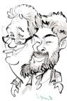 schnellzeichner karikaturist ipad zeichner event daniel stieglitz frankfurt messe
