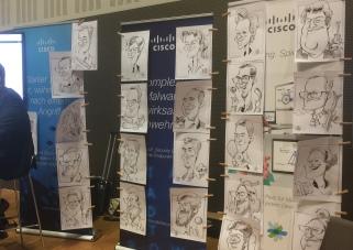 Cisco Berlin Messezeichner Schnellzeichner iPad zeichner Karikaturist Event Zeichner artist Daniel Stieglitz 00005