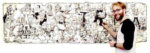 Panorama Karikatur Gruppenkarikatur Gruppenbild Schnellzeichner Daniel Stieglitz