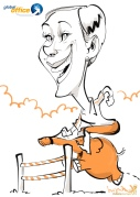 frankfurt global office Messezeichner Schnellzeichner iPad zeichner Karikaturist Event Zeichner artist Daniel Stieglitz 00007