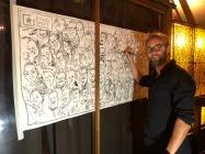 panorama karikatur gruppenbild bosch messe karrieretag schnellzeichner karikaturist ipad zeichner event daniel stieglitz 00008