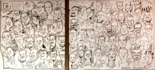 panorama karikatur gruppenbild bosch messe karrieretag schnellzeichner karikaturist ipad zeichner event daniel stieglitz 00009