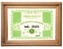+ eurocature 2019 best political caricature Daniel Stieglitz