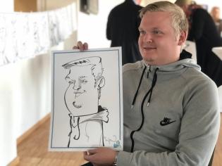 schnellzeichner hamburg karikaturist Daniel Stieglitz live zeichner caricaturist
