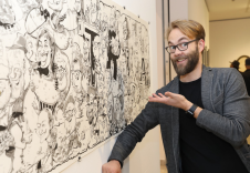 schnellzeichner daniel stieglitz kassel messezeichner iPad caricaturist live event karikaturist eurocature 2018 wien gruppenkarikatur 00002