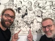 schnellzeichner daniel stieglitz kassel messezeichner iPad caricaturist live event karikaturist eurocature 2018 wien gruppenkarikatur 00130